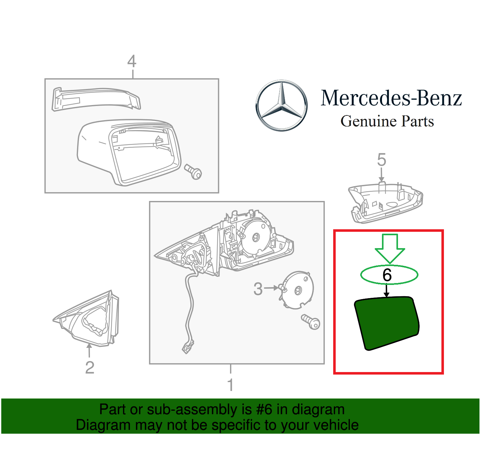 Mercedes Benz W204 Wiring Diagram Asm Simple C Cl S Cls E Class Genuine Right Mirror Glass 87560sl