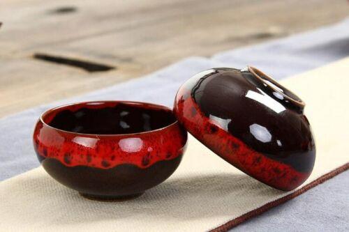 Teeservice Teekanne Mit 6 Teetassen Chinese Kung Fu Ceramic Red Glaze Tee Set