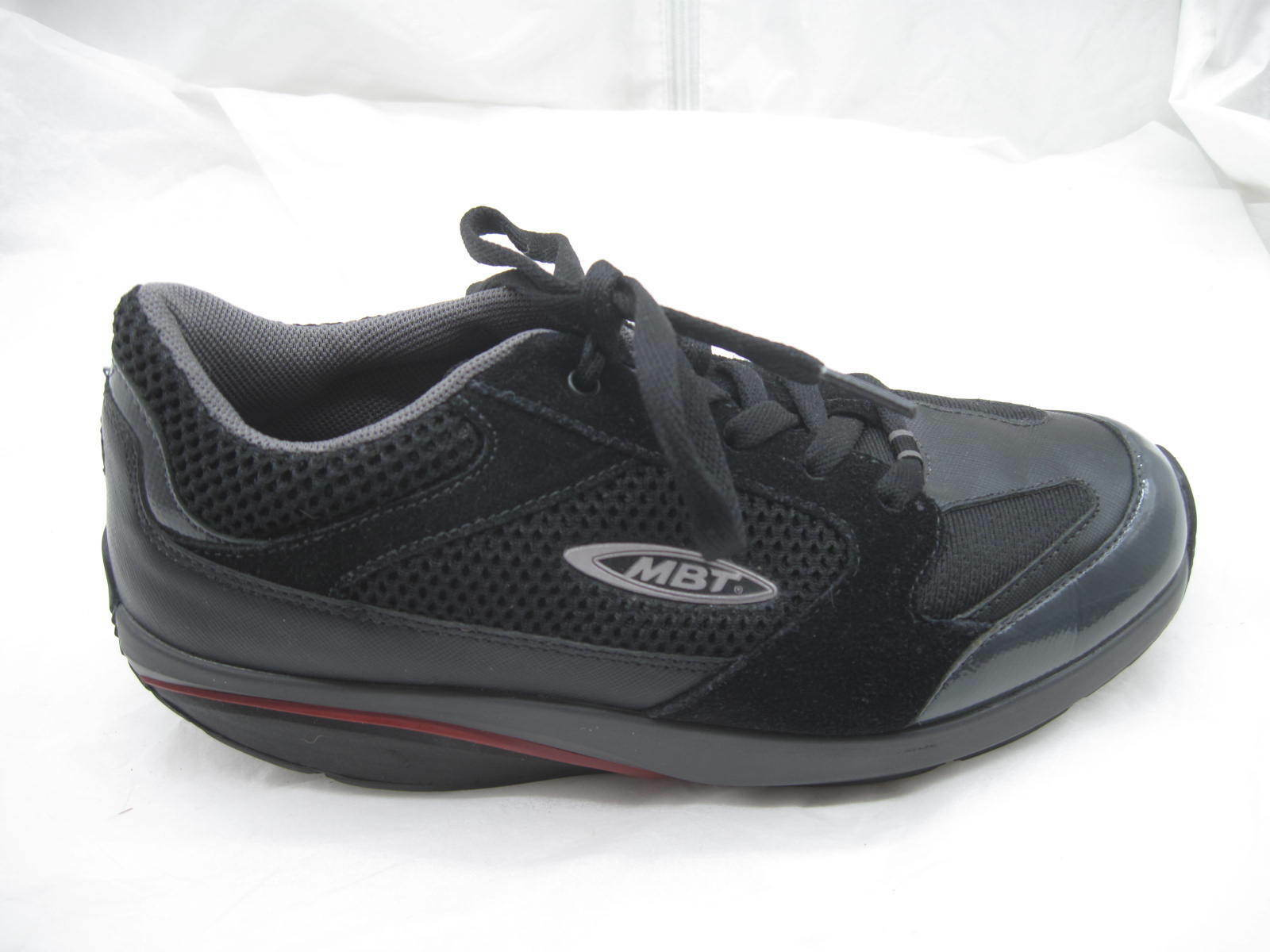 MBT From 37 2 3 7.5M black walking womens ladies toning tennis shoes 400214-03