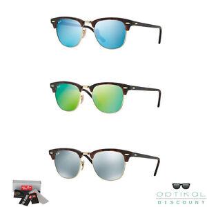 Ray ban rb 3016 clubmaster occhiali da sole specchiati sunglasses sonnenbrille ebay - Occhiali specchiati ray ban ...