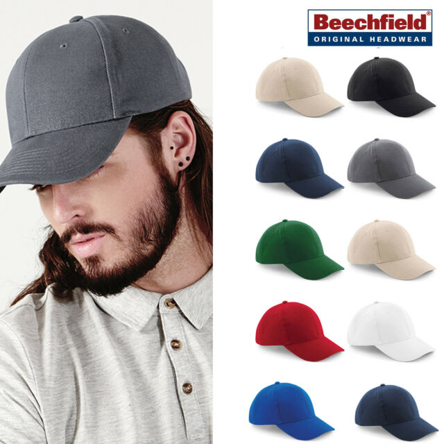 Beechfield B58 Baseball hat for Men /& Women Low Profile Heavy Cotton Drill Cap