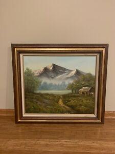 Original Vintage Oil Painting On Canvas Signed Framed