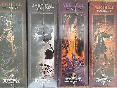 4x Alchemy Gothic 75 Pezzi Heye Puzzle, Sigillato-mostra Il Titolo Originale Belle Arti
