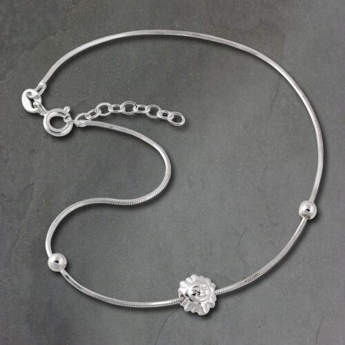 SilberDream 25,5cm Fußkette Damen silber nickelfrei Sonny Echt Silber SDF2055