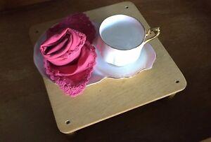 Royal Albert Bone China Rainbow Pink Snack Set Teacup and Plate - EUC