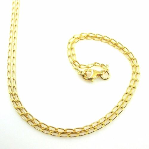 Anklet-Diamond Cut Curb Chain Gold Plated Sterling Silver Necklace Bracelet