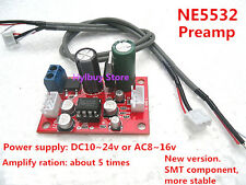 DC/AC 12v~15v PHILPS NE5532 Audio OP AMP Hi-Fi Preamps Pre-Amplifier Board