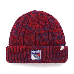 23a6be824b4 Details about Brand New Era NWT NY Rangers Women s 47 Prima Cuff Knit Beanie  Cap Hat