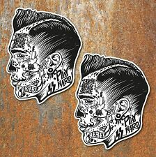 ROCKABILLY PCYCHOBILLY VINTAGE STICKERS Motorcycle Car Hot Rod Chopper Bobber 2