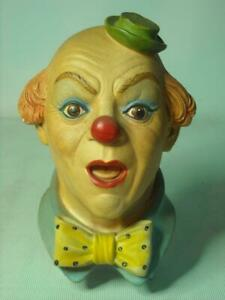 Legend-Products-CLOWN-No-3-Label-6-Photos-Plaster-Chalkware-Head-Wall-Plaque