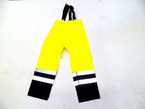 A.k Trading Pantalon Jaune Fluo Avec Bretteles Pantalon Newport Taille Xl Par Processus Scientifique