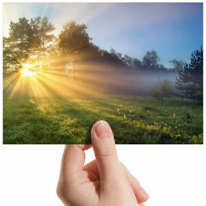 Misty-Morning-Landscape-Sun-Small-Photograph-6-034-x-4-034-Art-Print-Photo-Gift-12940