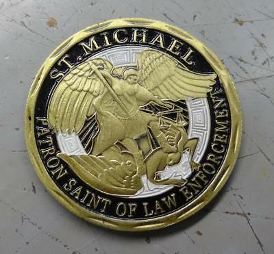 Saint Michael Patron Saint of Law Enforcement Challenge Coin