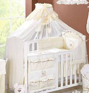 Image is loading LUXURY-BABY-CANOPY-DRAPE-480cm-WIDTH-HOLDER-Fit- & LUXURY BABY CANOPY / DRAPE 480cm WIDTH + HOLDER Fit COT /COT BED ...
