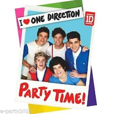 (8) ONE DIRECTION INVITATIONS ~ Birthday Party Supplies Stationery 1D Cards Note