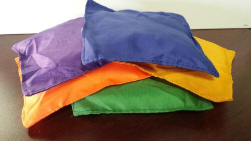 "10-5/"" Assorted Nylon Bean Bags Carnival Games Toss Cornhole Baggo"