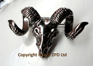 Goat-Rams-Head-Skull-with-Horns-Lapel-Pin-Badge-Brooch-Dark-Silver-Colour
