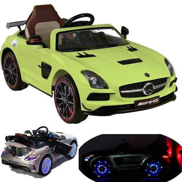 SLS AMG cabriolet Elektro niños auto niños vehículo niños auto eléctrico Matt verde