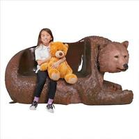 Wild Bear Collection: Grand Scale Black, Polar, Brown Bear Garden Wildlife Bench