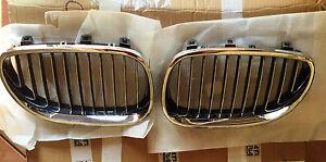 COPPIA-GRIGLIE-ANTERIORI-CROMATE-DESTRA-E-SINISTRA-BMW-S-5-E60-DAL-2003-gt