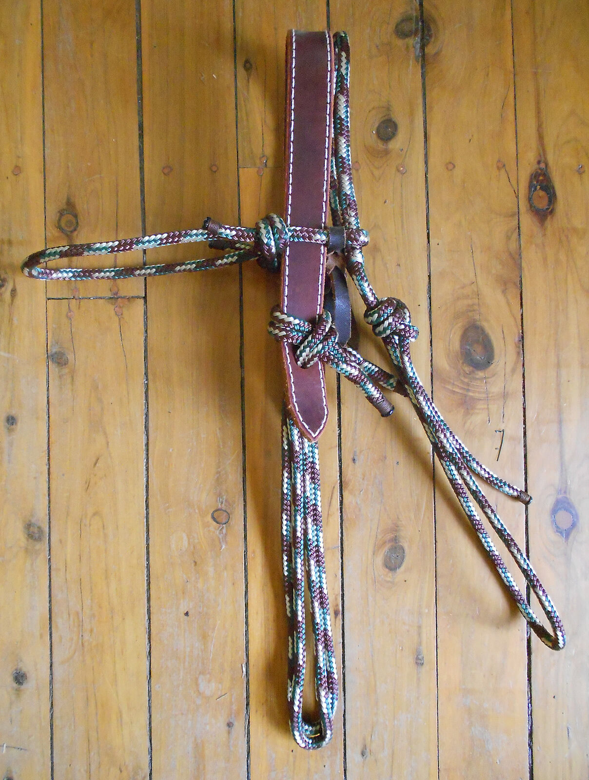 The  AUSSIE MONGREL  NEW BREED ROPE and LEATHER HEADSTALL - PRO MADE - 35 COLOUR