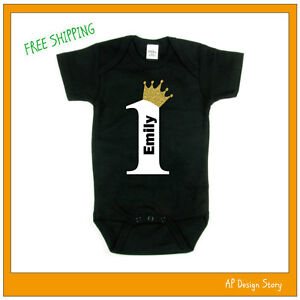 Image Is Loading Personalized Birthday Onsies 1st 2nd 3rd Toddler Shirt