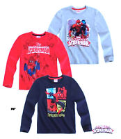 SPIDER-MAN Characters Boys Cotton Long Sleeve Crew Neck T.Shirt Top,4 5 6 8 10YR