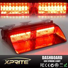 16 LED Car Truck Emergency Dash Vehicle Windshield Warning Flashing Strobe Red