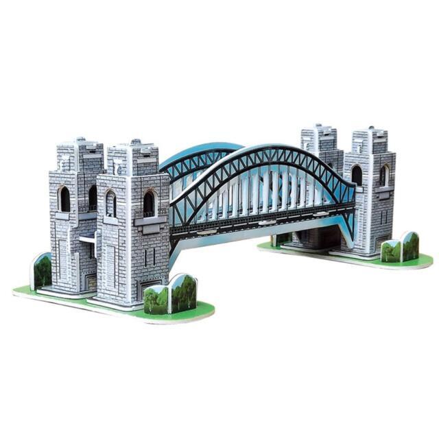 Mini Puzzle 3D Jeux Jouet Educatif DIY Thème Sydney Harbour Bridge 39pcs