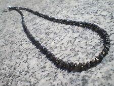1 Collier complet de Diamants Noirs Bruts  22,5 cts,  42 cms ( Afrique du Sud )