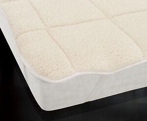 Teddy Bear Soft Mattress Topper Thermal Enhancer Single