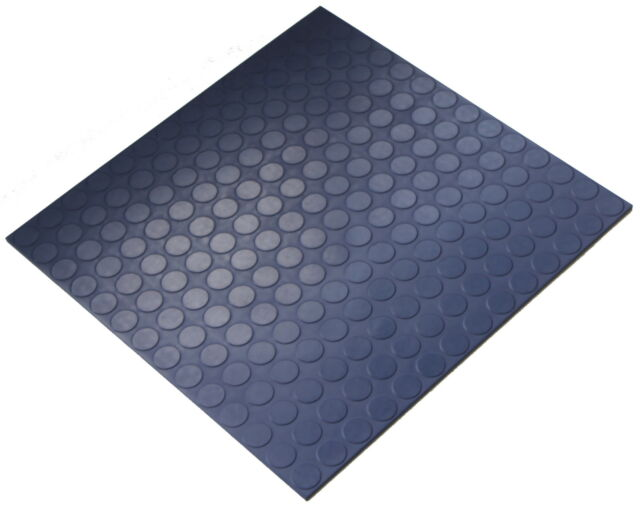 Cobalt Blue Indoor Hq Round Stud Rubber Flooring Tiles 50cm X 5mm