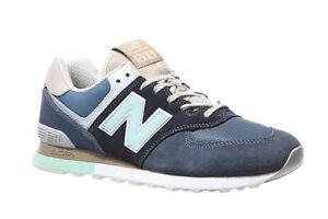 Details zu New Balance Echtleder Turnschuhe ML574 Schuhe Sneaker Herren  Blau Trend WOW SALE