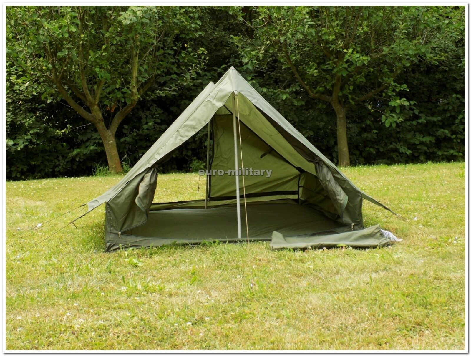 Original French Army 2 Mens Tent Shelter w Floor  New Unused  OD verde  TOP