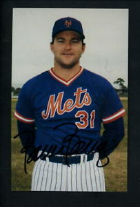 Bruce Berenyi SIGNED 1962 - 1986 25th Anniversary Postcard Mets JSA authenticat