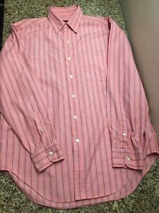 Austin Reed London Mens M Stripe Button Up Long Sleeve Shirt Ebay