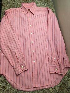Austin Reed London Mens M Stripe Button Up Long Sleeve Shirt Ebay