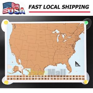 USA Scratch Travel Map US LandmarksAdventures Scratch Off Map United States