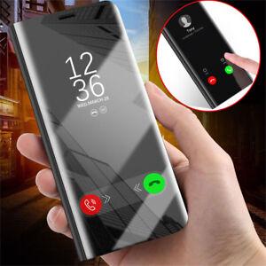 wholesale dealer ad3e8 4e444 Details about Smart Flip Stand Cover Clear View Mirror Case For Xiaomi  Redmi 4X 5 Plus Note 5A
