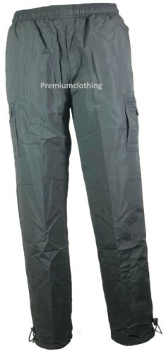New Thermal Lined Trousers Plain Camo Army Pattern pants Fleece Bottoms