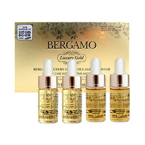 Image Is Loading Bergamo Luxury Gold Collagen Amp Caviar Ampoule Set