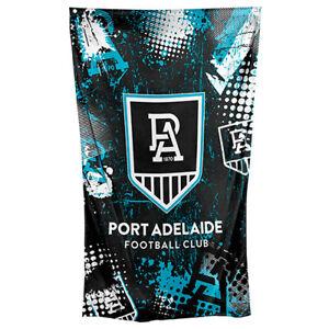AFL-Wall-Flag-Cape-Port-Adelaide-Power-150cm-x-90cm-Steel-Eyelet-For-Hang