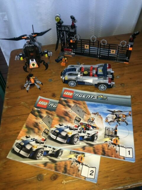 Lego 8634 Agents Mission 5, Turbo Car Chase, Pre-Owned, Complete no box.