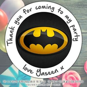 Personalised-Batman-Birthday-Party-round-stickers-labels-party-cone-seal-sheet