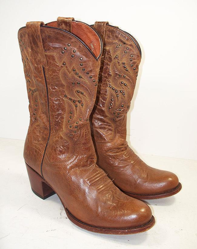Dan Post Melba Womens DP3515 Bay Apache Leather Cowboy Boots 10 M