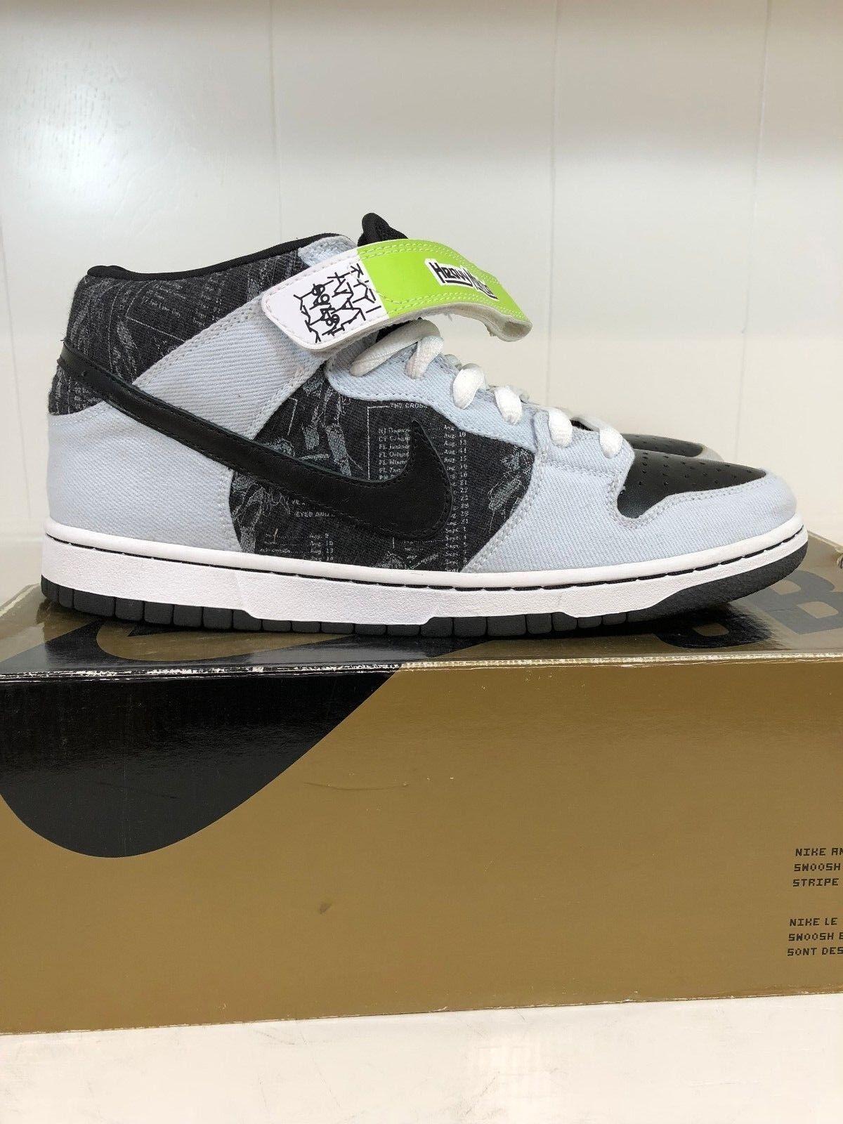 Nike SB Dunk Mid Heavy Mental 10 denim paris supreme medicom freddy skate mental The most popular shoes for men and women