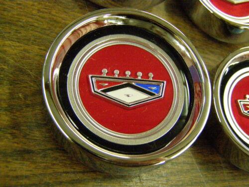 Ford 1966 1967 Fairlane Styled Steel Wheel Center Hub Caps Ranchero New Repro