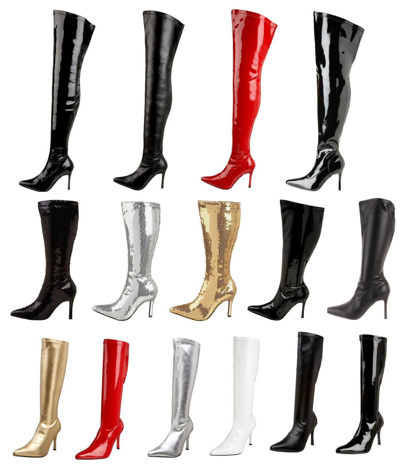 Pleaser Funtasma LUST 2000 2001SQ 2000X 3000 3000X Knee Thigh Boots