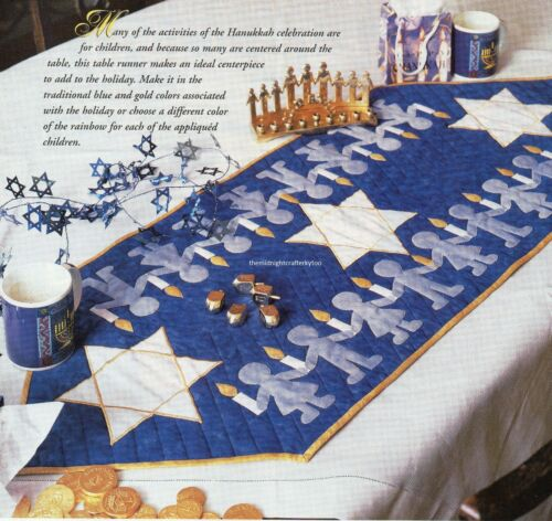 Hanukkah Celebration Quilt Pattern Pieced//Applique JM