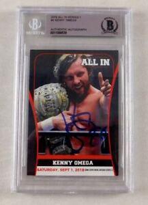 Kenny-Omega-Signed-2018-All-In-Wrestling-Trading-Card-WWE-AEW-NJPW-Beckett-COA